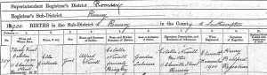 Ella G Newell birth 1900