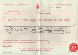Donald George Newell Birth