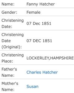 Fanny Luke:HatcherChristening