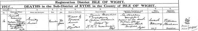 Emily Sweet Nee Forhead, Death Certificate.jpg