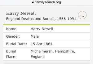 Harry Newell Burial