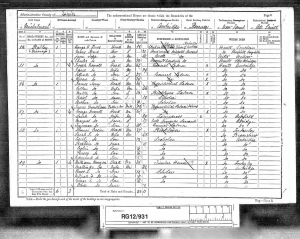 Joseph Newell 1891 Census