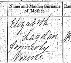 Susan Mary Lagden, Birth Certificate copy