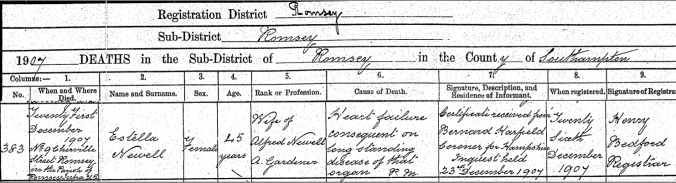 Estella Death Certificate