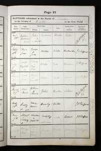 Albert sidney Rudgely baptism