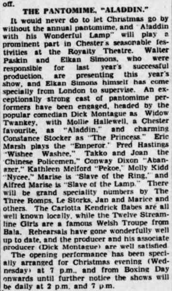 21 December 1940 - Cheshire Observer - Chester, Cheshire, England