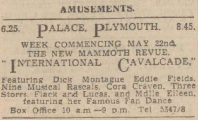 26 May 1939 - Western Morning News - Plymouth