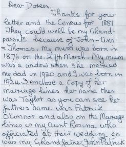 Part 1 - Letter To My Nan Doreen Willats From Rose