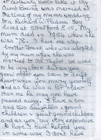 Part 2 - Letter To My Nan Doreen Willats From Rose
